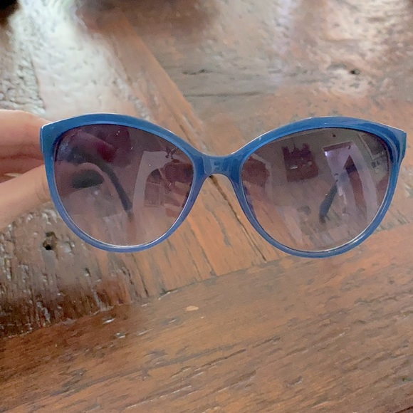 Michael Kors Crosby Teal Blue Cat Eye Sunglasses